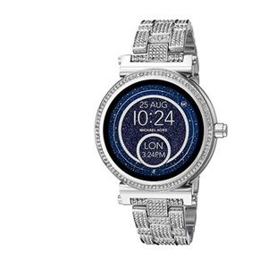 Michael Kors MKT5024 Silver Glitz Watch Sealed